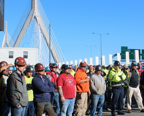 Safety stand down Boston building trades