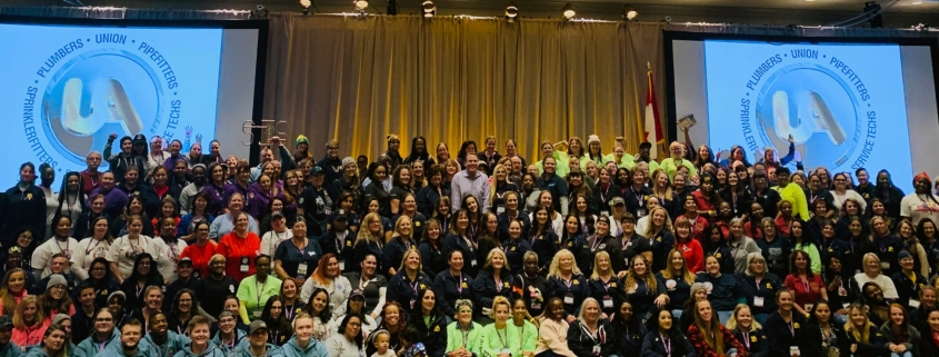 UA members at Tradeswomen Build Nations 2019