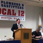 MA State Senator Patrick O'Connor at Local 12