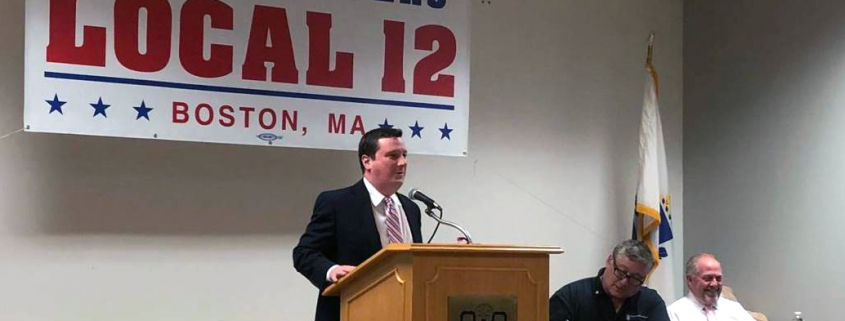 MA State Senator Patrick O'Connor at Local 12